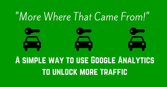 use google analytics to get more traffic simple way