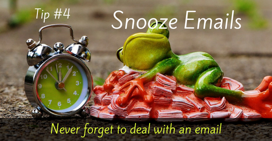 Snooze Emails to Read Later