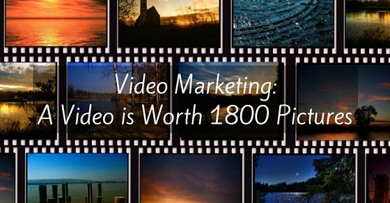 video marketing benefits - video is worth 1800 pictures