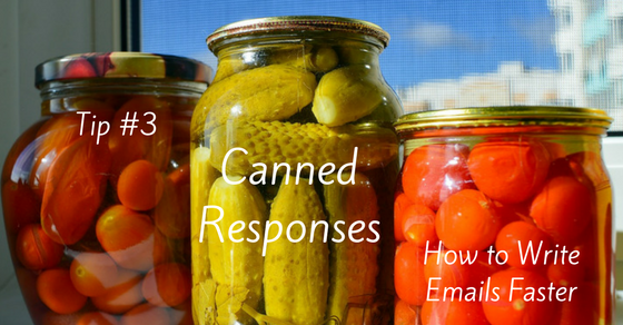 Write Emails Faster with Canned Responses