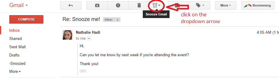 snooze email app